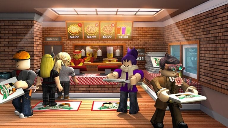 work at pizza place roblox